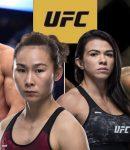 Israel Adesanya, Paulo Costa, Yan Xiaonan and Claudia Gadelha - UFC Logo