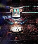 Dana White Holding UFC Belt and UFC Stadium