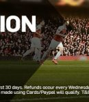 Banner showing the zero commission sign up offer from Betfair