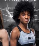 "Michelle Waterson and Angela ""Overkill"" Hill - UFC Fight Night Logo - UFC Octagon"